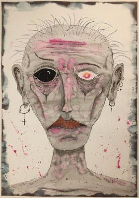 Moira - 03/2019 - 70x100 cm - Aquarell & Tinte auf 250g Aquarellpapier