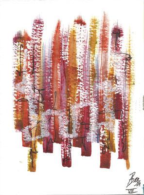 Dinky VIII - 08/2019 - 10,5x15,5 cm - Aquarell, Tinte & Ölpastell auf 300g Aquarellpapier
