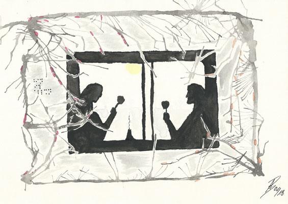 The Caravan - 01/2018 - 21x29,7 cm - Aquarell auf 170g Skizzenpapier