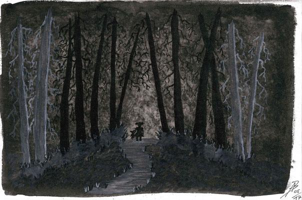 The Forest - 05/2017 - 20x30 cm - Aquarell auf Malkarton (in Privatbesitz)
