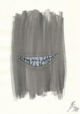 The Smile - 01/2018 - 21x29,7 cm - Aquarell auf 170g Aquarellpapier (in Privatbesitz)