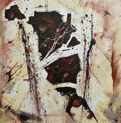 """""""Fragmente der Stille""""  Acryl auf Leinwand 80 x 80"""