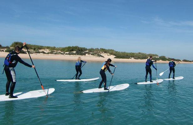 rutas en paddle surf Huelva