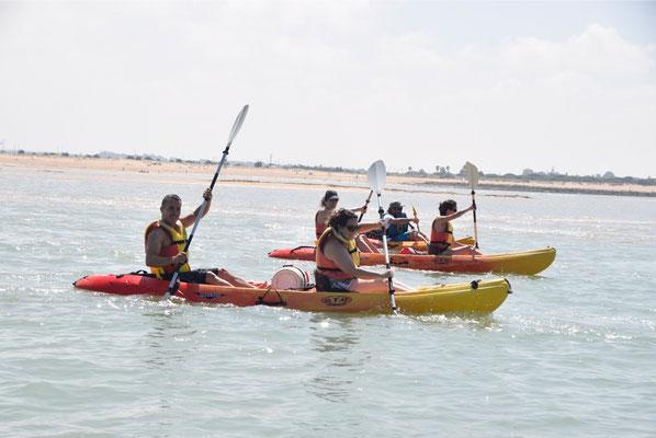 alquiler de kayak en punta umbria