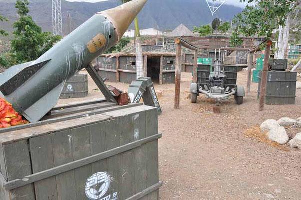 instalaciones de campo de paintball en Tenerife