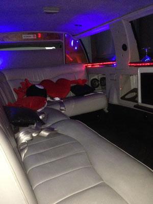interior de limusina Pontiac en lanzarote