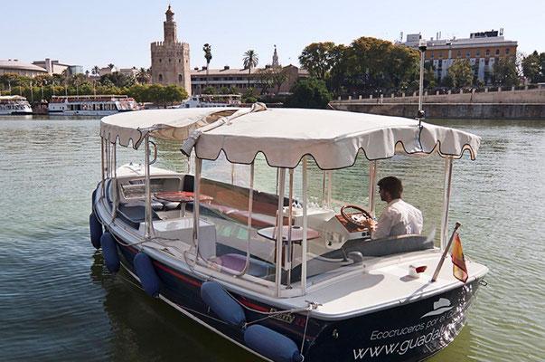 paseo en barco a motor Sevilla