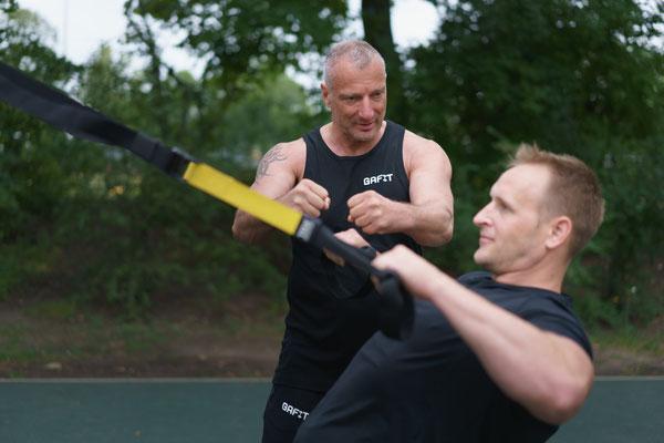 Ein wichtiger Teil der Ganzheitlichen Fitness ist im Personaltraining das Coretraining. Hier werden tieferliegende Muskelstrukturen gezielt trainiert.