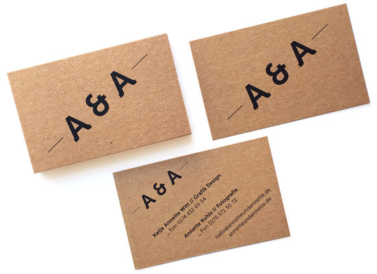Logo & Card / Corporate Design / Annette & Annette
