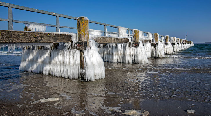 Wintertag am Ostseestrand von Travemünde
