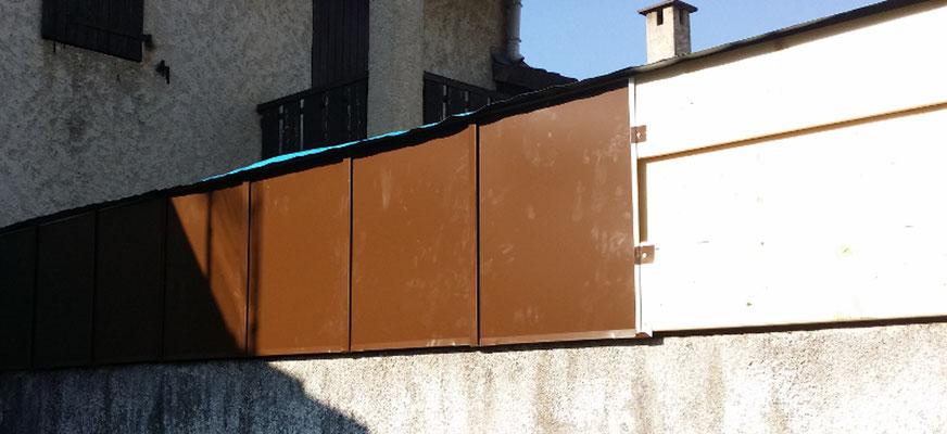 Bardage métallique ventilé