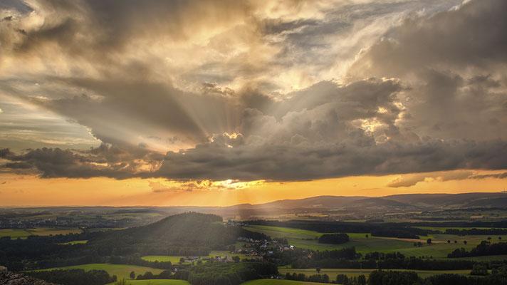 Sonnenuntergang am Schlossberg
