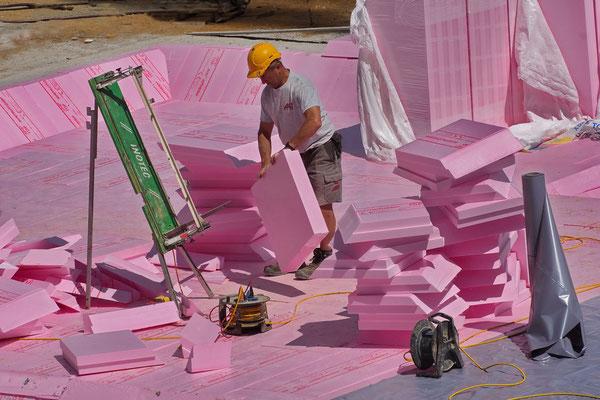 Isolierarbeiten, Foto: Dieter Neumann