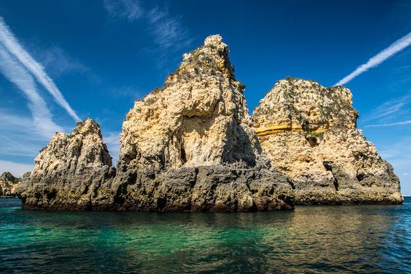 Felsen der Algarve, Foto: Karl Polland