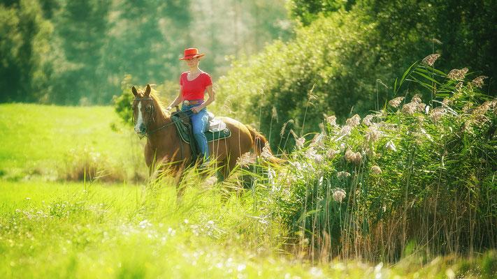 Bild 03: Alles Glück der Erde liegt auf dem Ruücken der Pferde