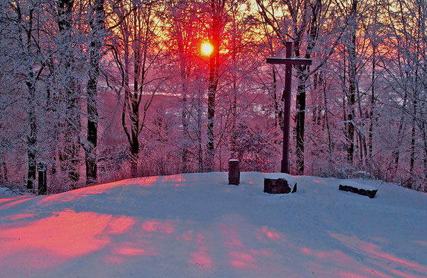 Winterabend, Foto: Annelies Neumann