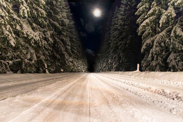 Winterautofahrt, Foto: Bernhard Lang