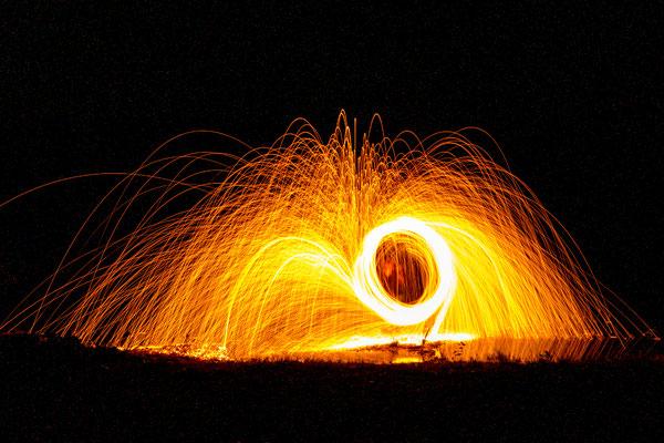 Lightpainting, Foto: Elke Englmaier