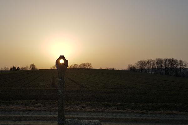 Bild 05: Sonnenuntergang im Feldkreuz; Foto: Christina Bäumler