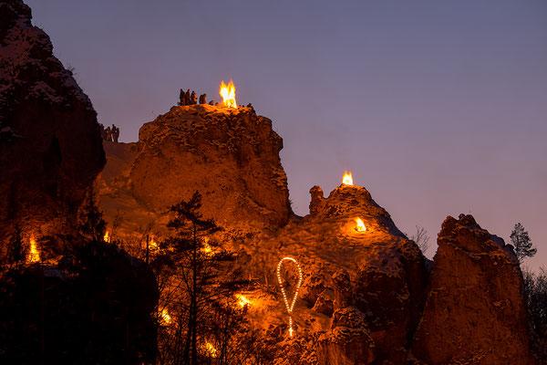 Pottenstein in Flammen, Foto: Josef Beinrucker
