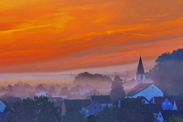 der Himmel brennt; Foto: Dieter Neumann