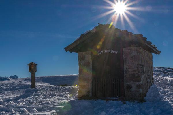 Schutzhütte auf dem Rittner Horn, Foto: Rosi Polland