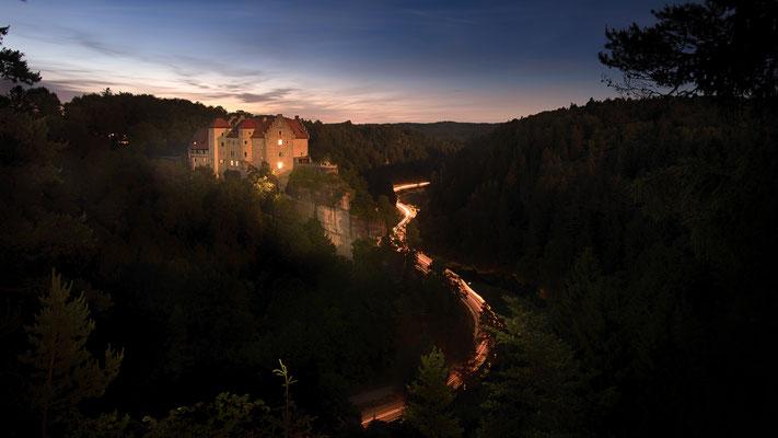 Blue Hour Castle Rabenstein, Foto: Heiko Prechtl