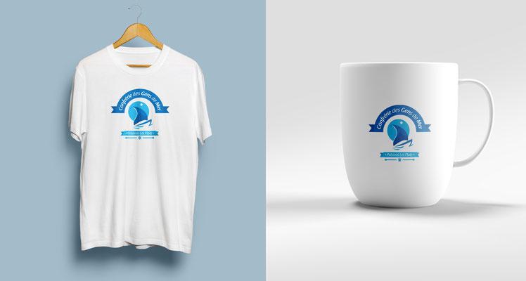 Conception logotype, association Confrérie des Gens de Mer (Palavas les Flots).