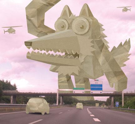 """Illustration """"Monster Race""""."""
