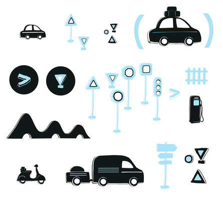 Illustrations kit routier Istock photo (Getty image).