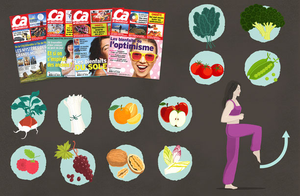 "Conception illustrations, magazine ""Ça m'intéresse"" Prisma Media (Paris)."