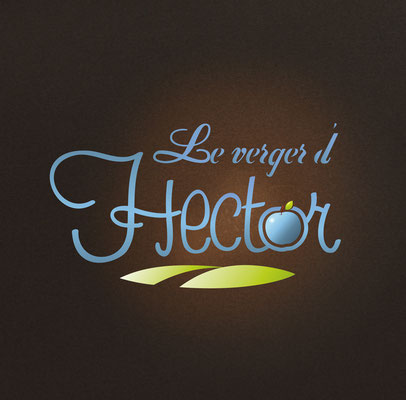 Conception logotype Le Verger d'Hector.