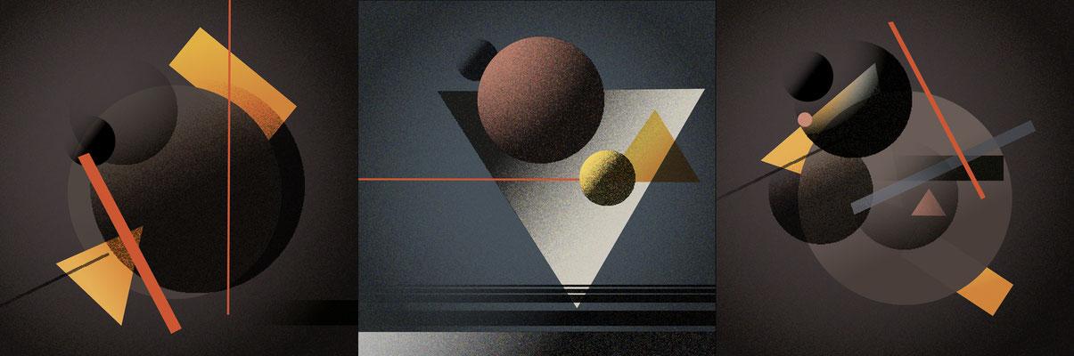 Compositions abstraites (travail personnel).