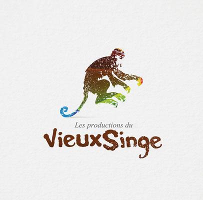 Conception logotype Les productions du vieux singe.