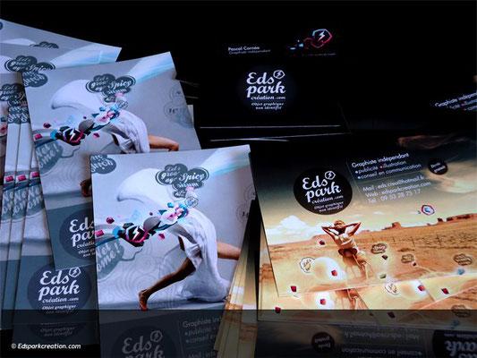 Création supports de communication print Edspark création.