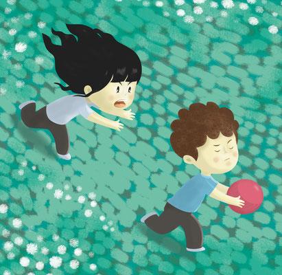 """Illustration jeunesse """"Jeux extérieurs"""" Istock photo (Getty image)."""