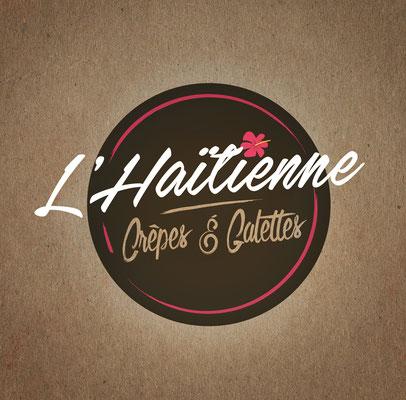 Conception logotype crêperie métissée l'Haïtienne (Île de la Réunion).