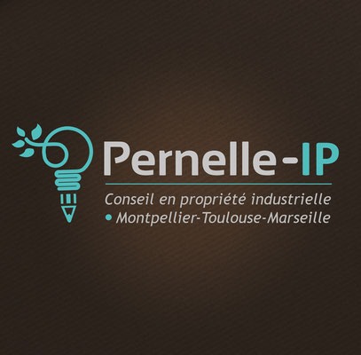 Conception logotype Pernel IP (Montpellier).