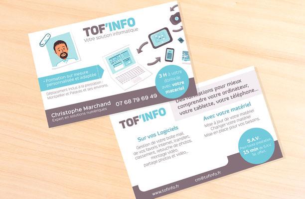 Carte de visite Toff info (Montpellier).