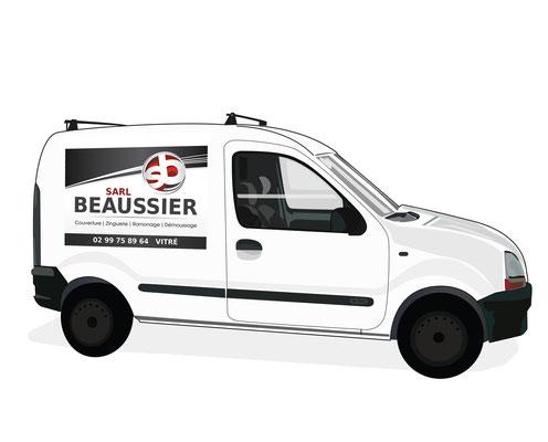 Logotype Beaussier S.A.R.L. (Vitré).