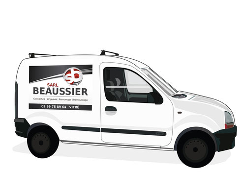 Conception logotype Beaussier S.A.R.L. (Vitré).