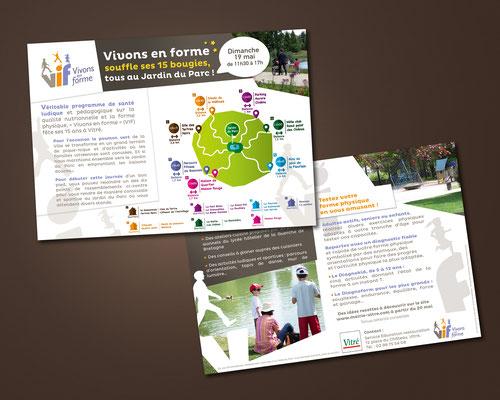 Conception et mise en page, flyer anniversaire du V.I.F., format A5, Mairie (Vitré).