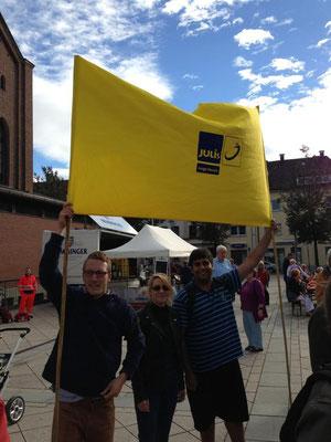Demo gegen einen (erfolgreich verhinderten) NPD-Aufmarsch in Neu-Ulm