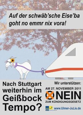 Unser Plakat zur Volksabstimmung