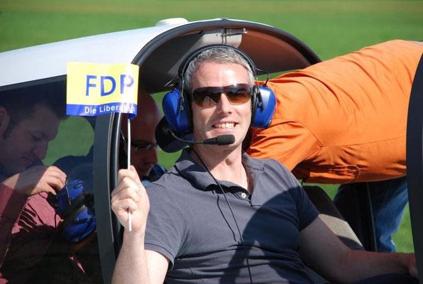 Rundflug über Ulm beim FDP-Sommerfest