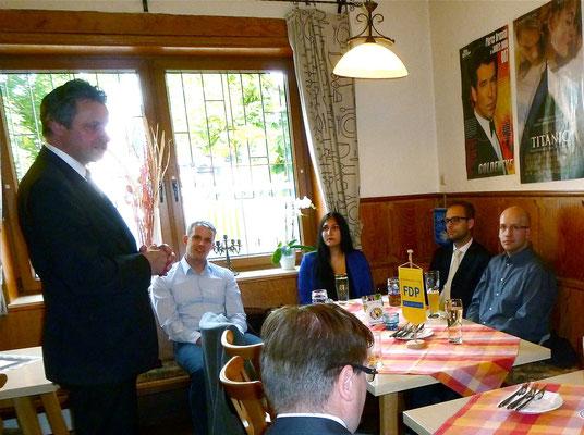 Vortrag des FDP-Fraktionsvorsitzenden im Landtag Herrn Rülke