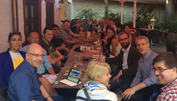 Wahlparty zur Europa- und Kommunalwahl in Ulm