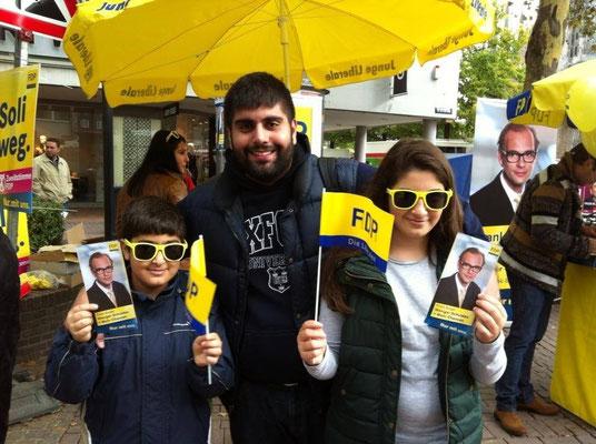 Straßenwahlkampf zur Bundestagswahl