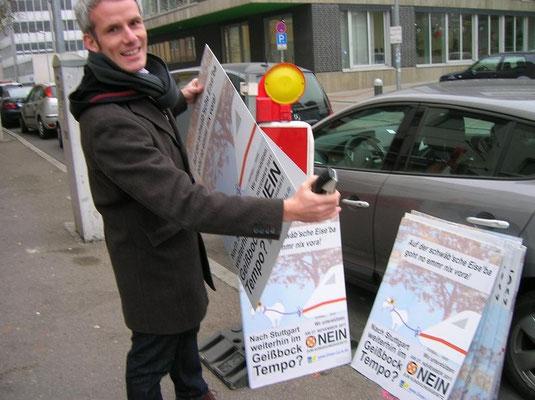 Plakatieren zur Volksabstimmung