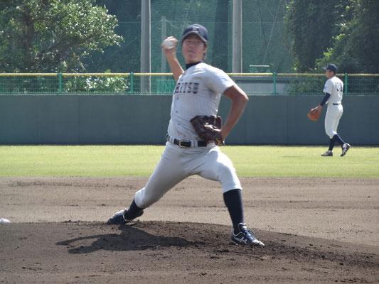 今季2勝目を挙げた 岩本喜照投手(経3:常葉学園菊川高校)